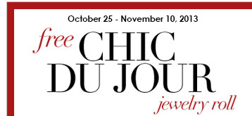 Free Chic Du Jour Jewelry Roll