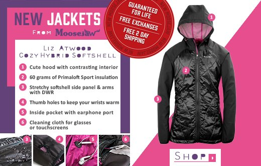 New Jackets From Moosejaw - the Liz Atwood Cozy Hybrid Softshell