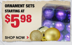 Ornament Sets starting at $5.98