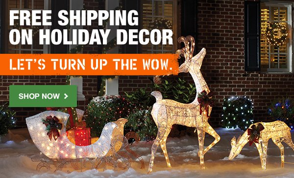 Free Shipping on Holiday Décor