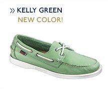 Docksides Kelly Green