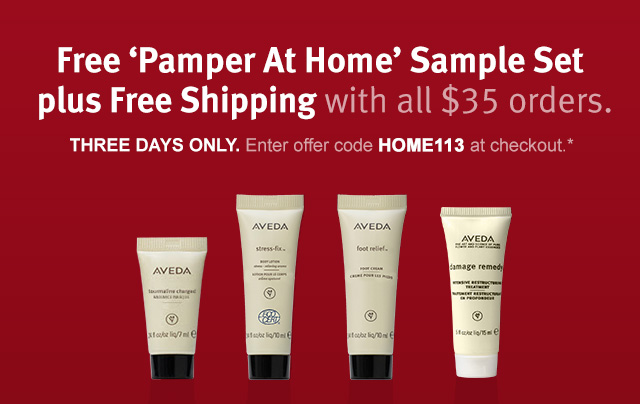 Free Pamper At Home Sample Set plus Free Shipping