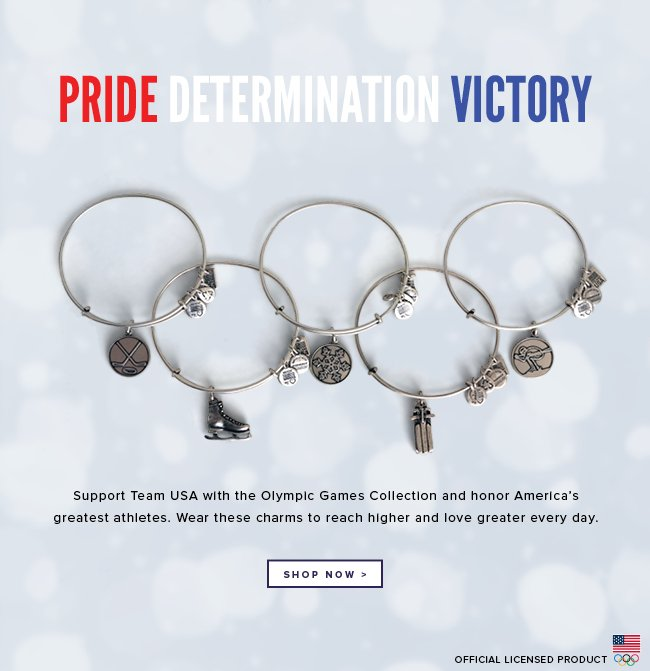 Pride, Determination, Victory. Support Team USA with the Olympic Games collection and honor America's greatest athletes. Wear these charms to reach higher and love greater every day. Reach higher. Shop now.