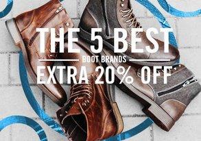Shop EXTRA 20% Off: 5 Best Boot Brands
