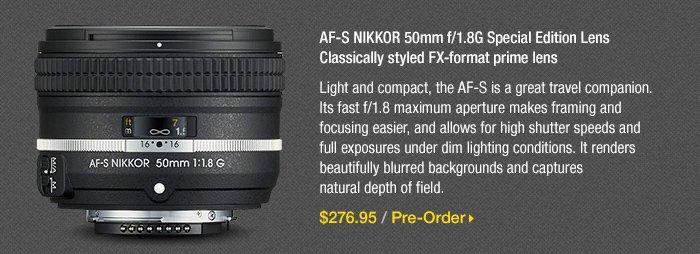 Adorama - Nikon AF-S NIKKOR 50mm f/1.8G Special Edition Lens