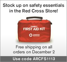 Stock up on safety essentials in the Red Cross Store!