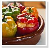 Tortilla Stuffed Mini Bell Peppers