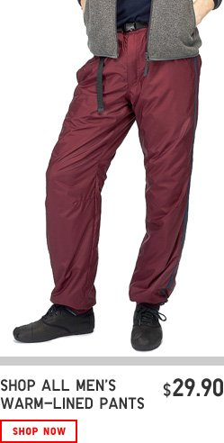 MENS WARM PANTS