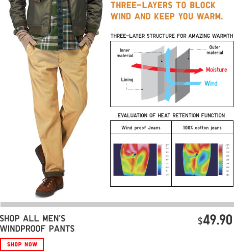 MENS WINDPROOF PANTS