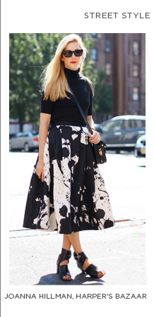 Shop Joanna Hillman's look in the Paint Splatter Full Skirt