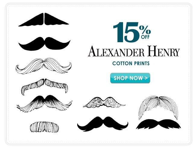 15% Off Alexander Henry Cotton Prints