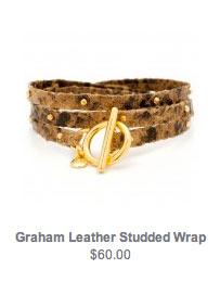 Graham Leather Studded Wrap