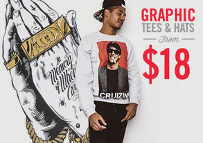 Shop Top Graphic Hats & Tees from $18