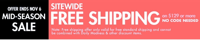 Pre-Christmas Sale: Free Shipping Sitewide!