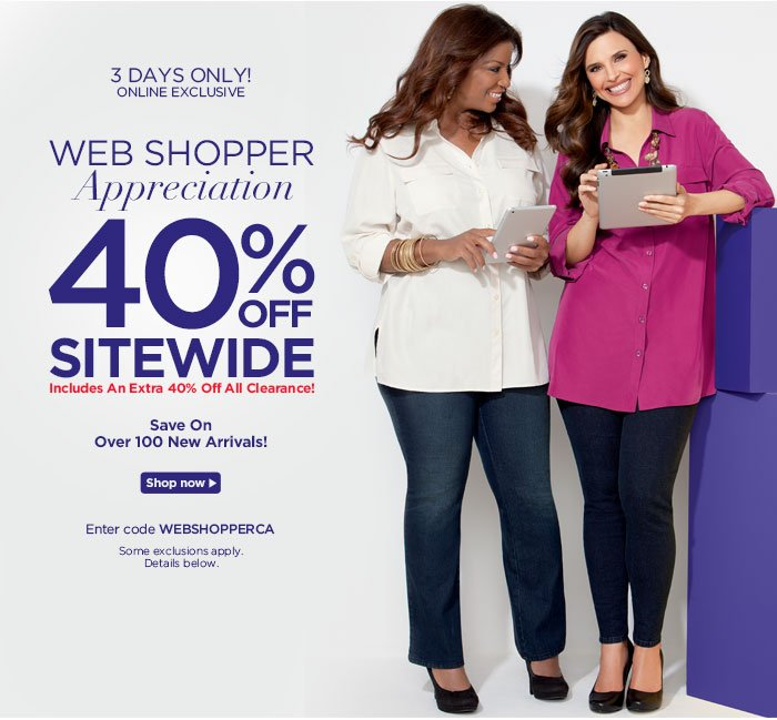 Web Shopper Appreciation! 40% off site wide!