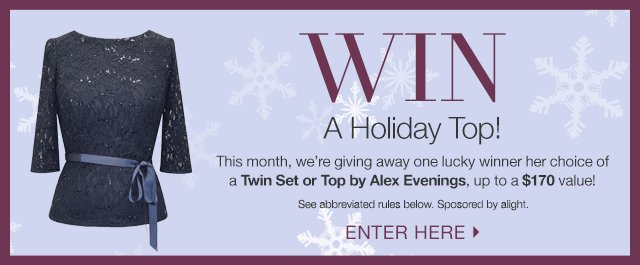 Win a Holiday Top!