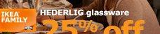 HEDERLIG glassware
