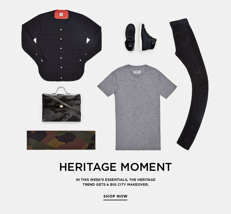 Essentials: Heritage Moment In this week's Essentials, the heritage trend gets a big city makeover.
