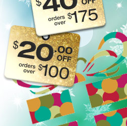 $60 off orders over $225 | $40 off orders over $175 | $20 off orders over $100 | use promo code SHOP.