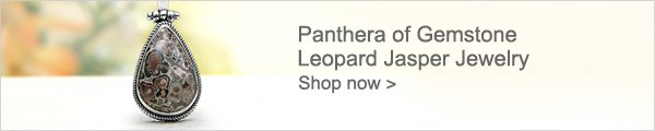 Panthera of Gemstone Leopard Jasper Jewelry