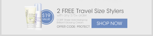 2 Free Travel Size Stylers with any $75+ order* Offer code: PROTECT