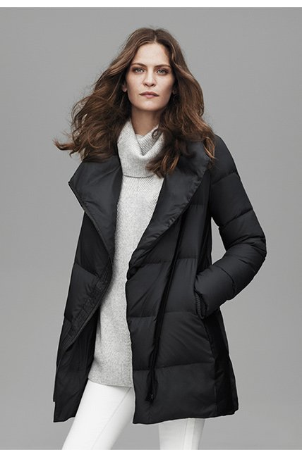The Leather Trimmed Puffer Jacket