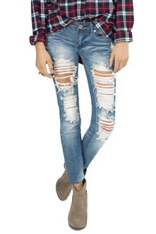 DESTROYED SKINNY JEANS 40