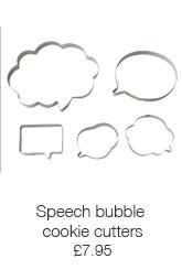 Speech bubble cookie cutters
