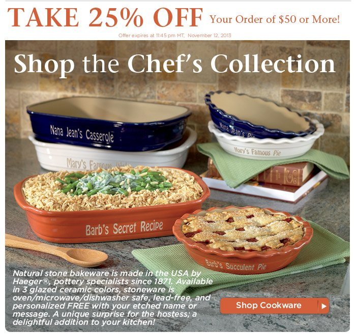 Shop the Chef's Collection, SAVE 25%