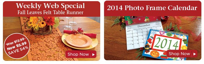 Weekly Web Special & 2014 Photo Calendar