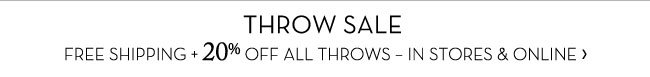 THROW SALE