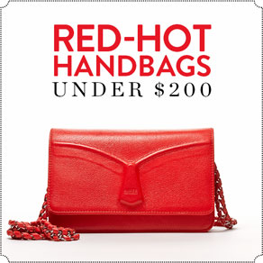 RED-HOT HANDBAGS - UNDER $200