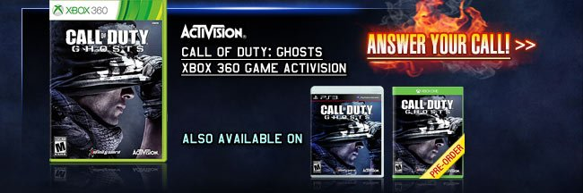 Call of Duty: Ghosts Xbox 360 Game Activision. ANSWER YOUR CALL!