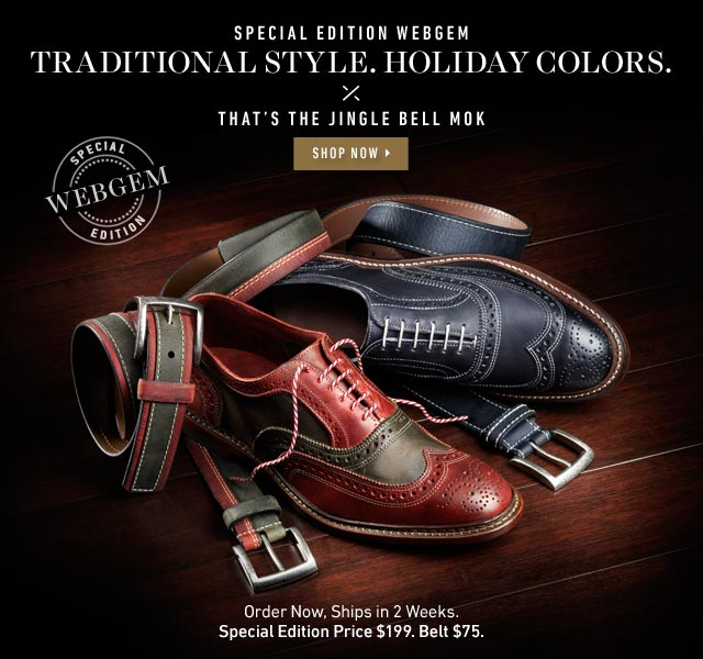 Traditional Style. Holiday Colors. That's the Jingle Bell Mok. Shop Now >