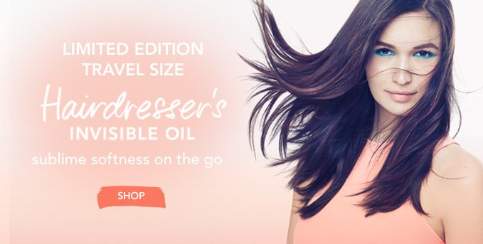 LIMITED EDITION TRAVEL SIZE Hairdresser's Invisible Oil sublime softness on the go »SHOP