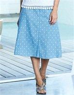 Panelled Spotty Skirt