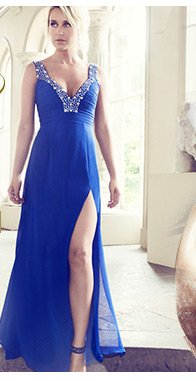 V I P Beaded Bust Maxi Dress