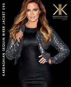 Kardashian Sequin Biker Jacket