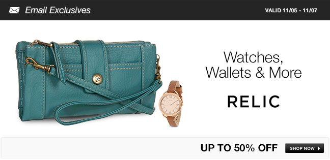 Relic Watches, Wallets and More