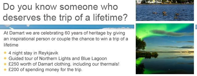 Do you know someone who deserves the trip of a lifetime?