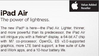 iPad Air -- The power of lightness