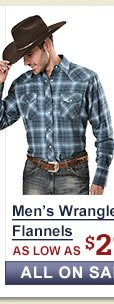 Mens Wrangler Flannel Shirts on Sale