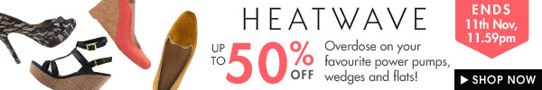 Heatwave timed sale up to 50% off