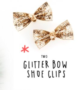 ban.do glitter bow shoe clips