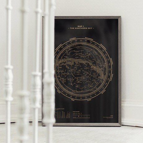 Map I – The Northern Sky // Gold + Black