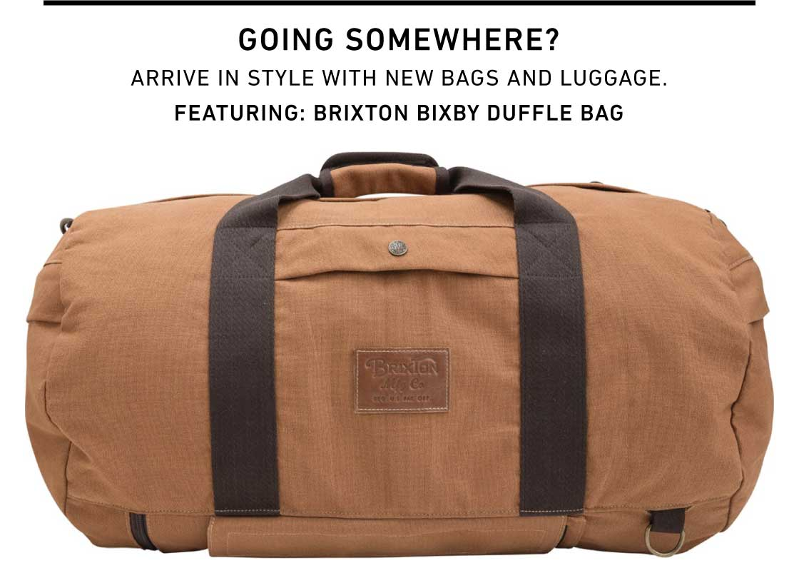 Going Somewhere? Shop New Bags and Luggage