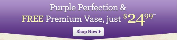 Purple Perfection + Free Vase - just $24.99*  Shop Now