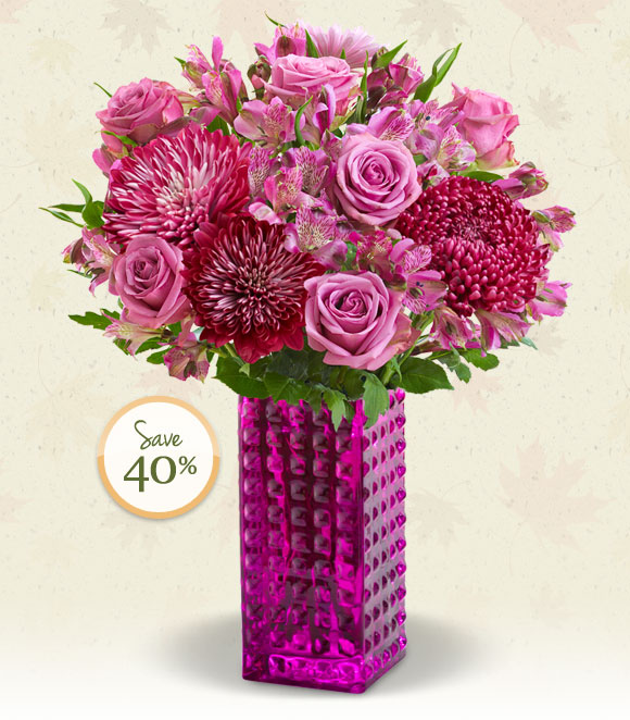 Deal of the Week - While Supplies Last!  Got a purple lover in your life? Send the perfect gift to make them smile-our beautiful bouquet of roses, lilies and more! Shop Now