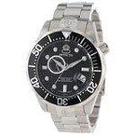 Invicta 13697 Men's Grand Driver Automatic Black Dial Steel Bracelet Watch