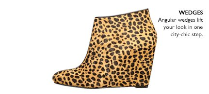 Click here to shop wedge booties.